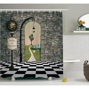 RIDEAU DE DOUCHE Yul019xx 1 Alice In Wonderland Dcorations Par Amb