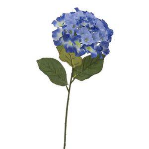 FLEUR ARTIFICIELLE Tige d' Hortensia artificielle - Bleu - Hauteur 67