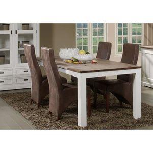 TABLE À MANGER SEULE Table à manger contemporaine en bois massif blanc