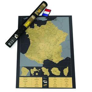 AFFICHE - POSTER Carte de la France, à gratter