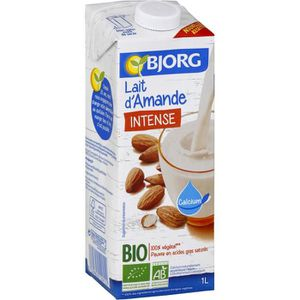 Boisson lactée BJORG Lait d'amande Intense - Biologique - 1 L