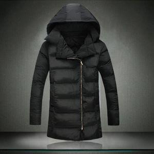nouvelle arrivee 3a5ff 92fa8 Parka homme longue veste doudoune manteau,homme blouson Noir ...