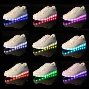 BASKET Femme Homme USB LED Light Lumière Shoes Party S...