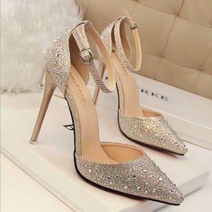 Chaussure Avec Pas Vente Femme Cher Achat Strass FJ5T1Kul3c