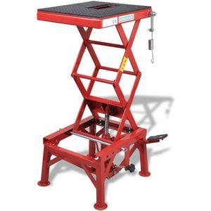 LÈVE-MOTO Table élévatrice rouge 135 kg