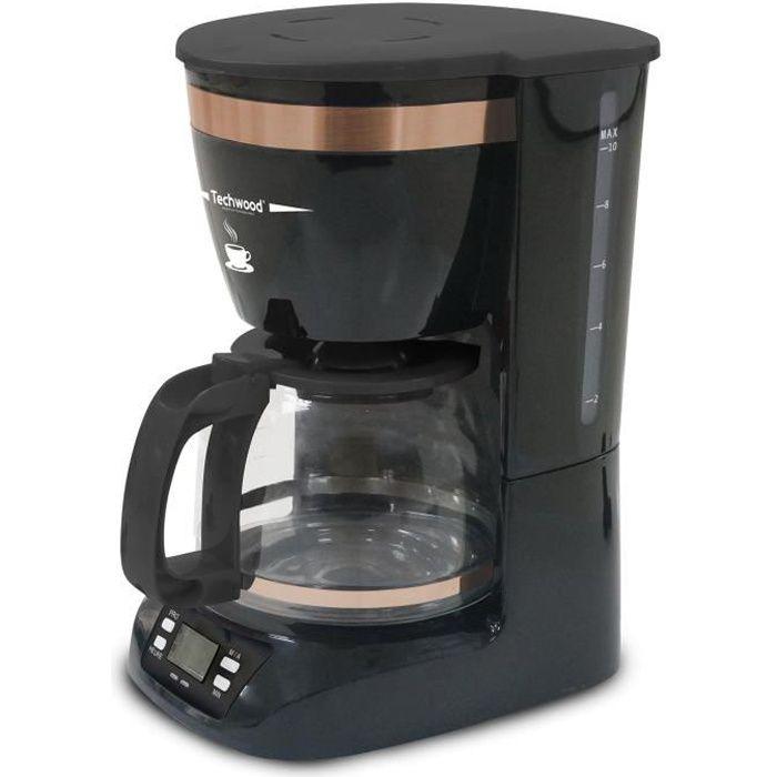 TECHWOOD TCA-911 Cafetière filtre programmable – Noir