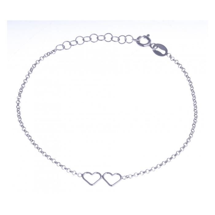 Achat Bracelet Argent Rhodié Cœurs 3cm Vente 2 17 SUpGMVzq
