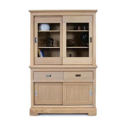 vaisselier 2 portes couleur amande achat vente vitrine argentier vaisselier 2 portes. Black Bedroom Furniture Sets. Home Design Ideas