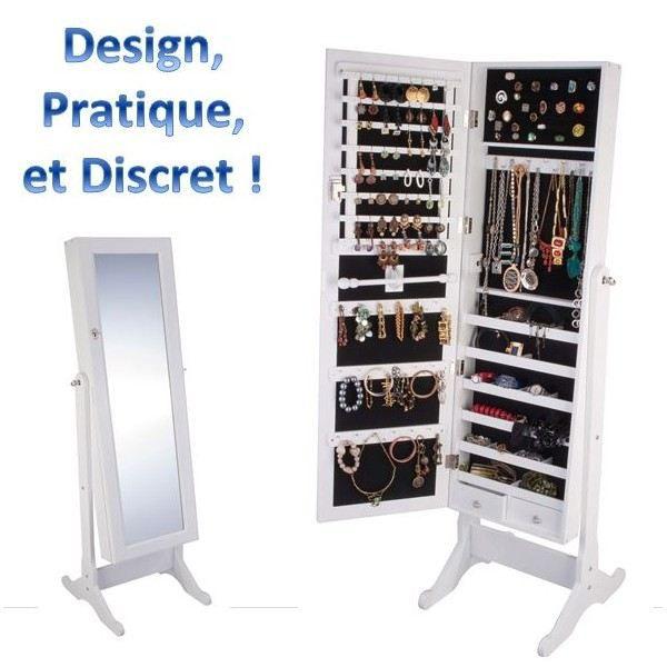 armoire range bijoux avec miroir integree - achat / vente armoire a