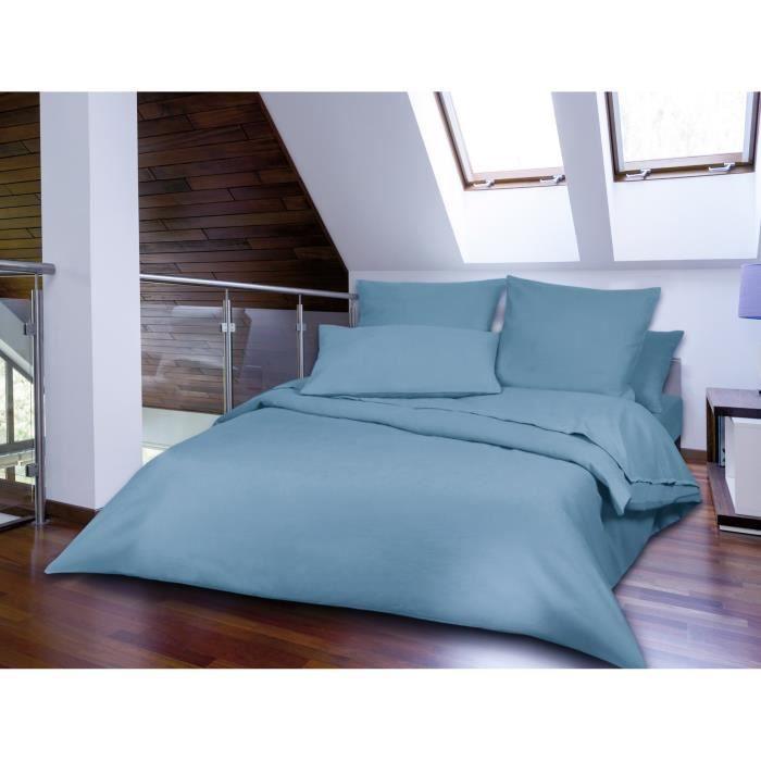 drap plat flanelle 240x310 bleu glacier caen achat vente drap plat cdiscount. Black Bedroom Furniture Sets. Home Design Ideas