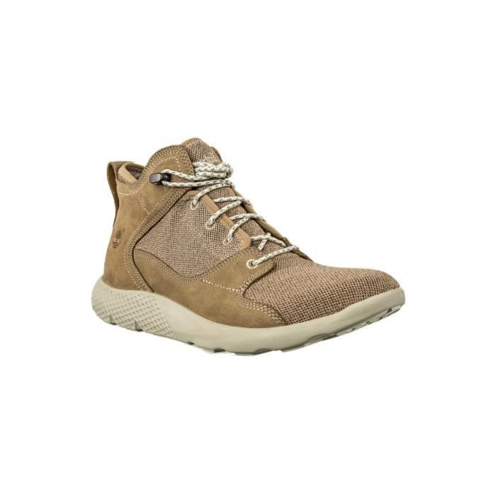 baskets mode timberland wedge beige