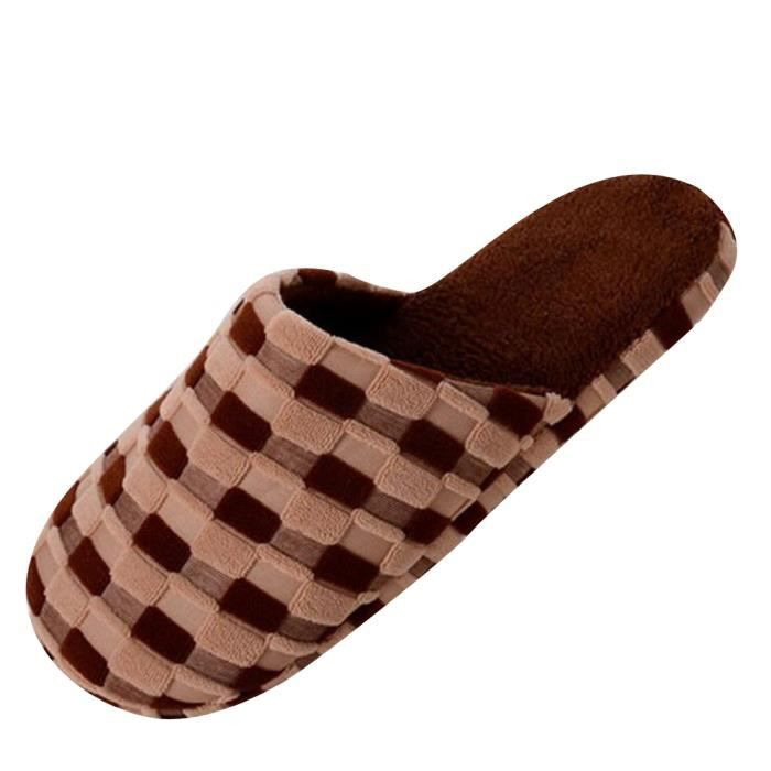 pantoufle femmes peluche Confortable Coton pantoufles d'intérieur pantoufles chaudes Qualité Supérieure chaud doux pantoufles