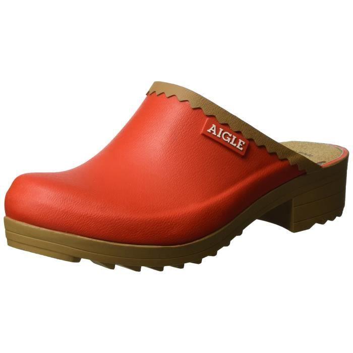 vente chaude authentique sur des pieds à meilleur prix Aigle Victorine Sab, Sabots Femme GHXAS Rouge - Achat ...