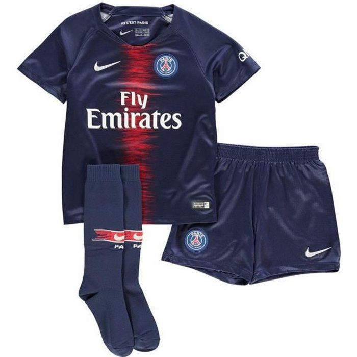 Mini-Kit Officiel Enfant Nike Paris Saint-Germain PSG Saison 2018 ... cead7c951fe