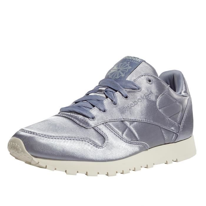 Reebok Femme Chaussures Baskets Classic Leather Satin