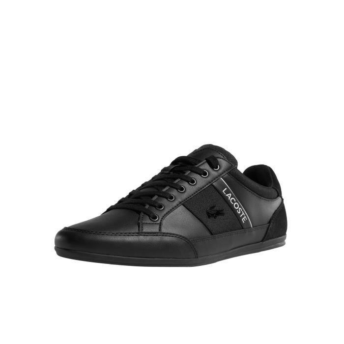 875d8827bbe Lacoste Homme Chaussures   Baskets Chaymon 318 5 Us Cam Noir Noir ...