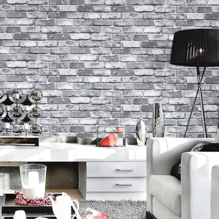 Style De Brique 3d Revetement Mural Gris Ardoise 53 8 8cm Achat