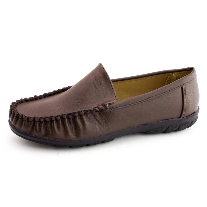 Kali Femmes Faux cuir épais Semelle intérieure Comfort Slip-on Chaussures (adultes) S6GPM Taille-38
