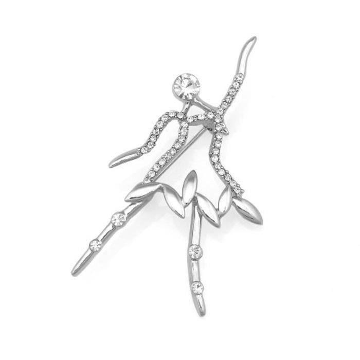Ballerine Broche Avec Élément Cristal De Autrichien DArgent (5205)