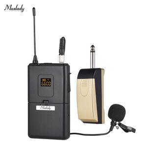 MICROPHONE Muslady Système de microphone sans fil UHF avec ém