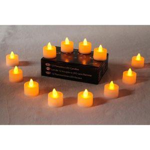 OBJETS LUMINEUX DÉCO  12 Bougies LED avec Flamme Vacillante