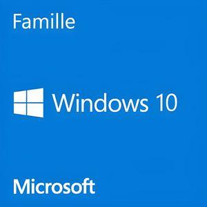 SYSTÈME D'EXPLOITATION Windows 10 Famille 64 bits version complète avec D