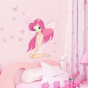 STICKERS Belle Fée Princesse Butterly Stickers Art Mural St