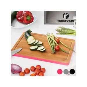 PLANCHE A DÉCOUPER Planche de Cuisine Rectangulaire en Bambou TakeTok