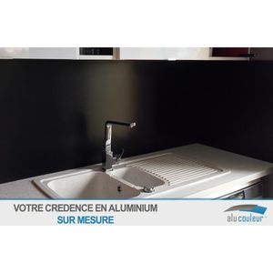 CREDENCE Crédence Aluminium noir ( RAL 9005) H 30 cm x L 30