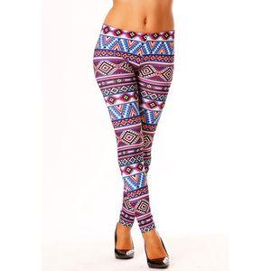 LEGGING Miss Wear Line - Legging imprimé indien bleu et fu