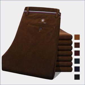 PANTALON Pantalon Homme Mode en velours côtelé Marque Luxe