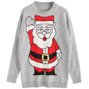 PULL Pull Hommes Noël Capuche Manche Longue Mince Chand