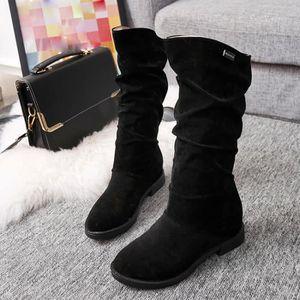 BOTTE Chaussures@ Bottes plates élégantes pour femmes No