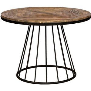 TABLE À MANGER SEULE Table Pralus ronde en bois 110 cm
