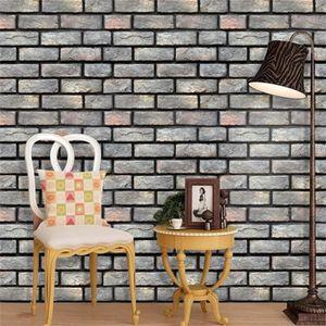 stickers muraux mur papier brique effet pierre. Black Bedroom Furniture Sets. Home Design Ideas