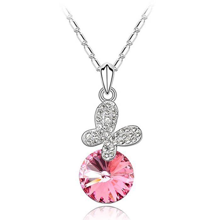Cadeaux Valentine Spécial Femmes trésor intemporel « rêve de Chasers » Rose cristaux de Swarovski Pend AAVSO