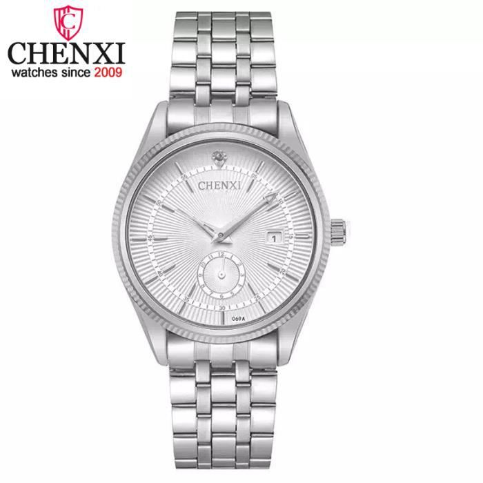 b03425623d76 Reloj Hombre Marque De Luxe Simple De Mode D affaires Décontractée ...