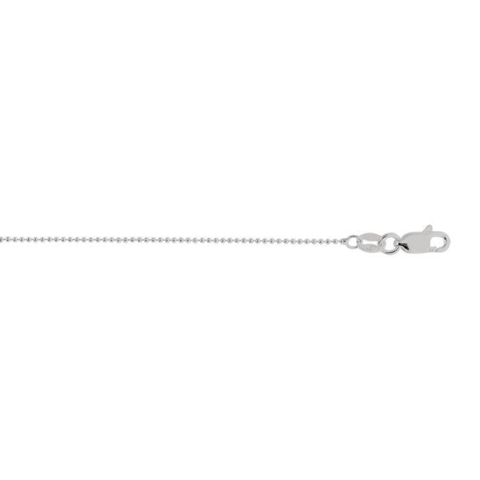 Argent Sterling Rhodium plaqué de 20 mm 1 Chaîne perle