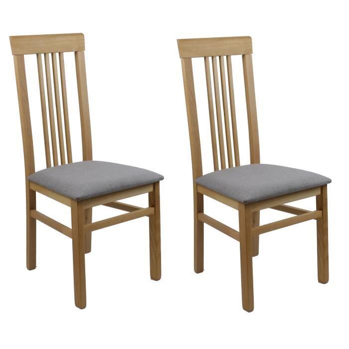 Lot 2 chaises salle à manger - gris clair - élégantes et raffinées ...