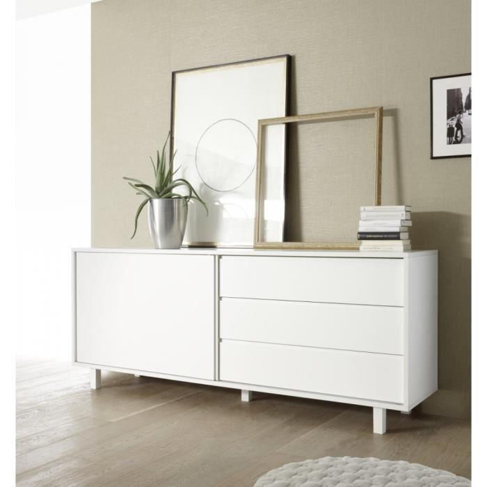 buffet bahut porte coulissante achat vente pas cher. Black Bedroom Furniture Sets. Home Design Ideas