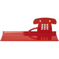 Etag re t l phone rouge achat vente etag re murale etag re t l phone rouge cdiscount - Etagere murale rouge ...