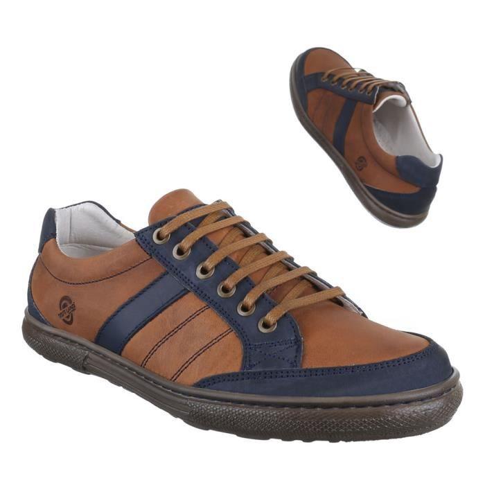Homme chaussure Sneaker cuir Low-top