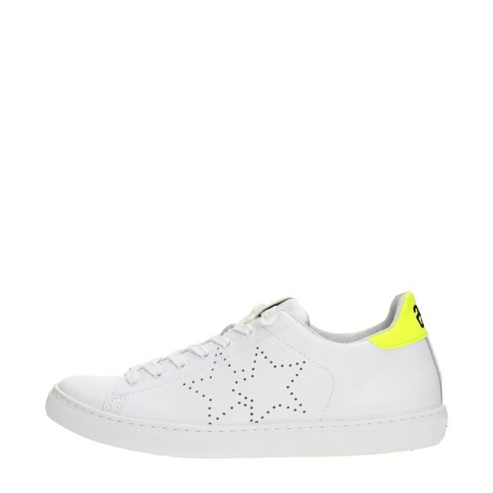 2 Star Sneakers Homme White/yellow, 39