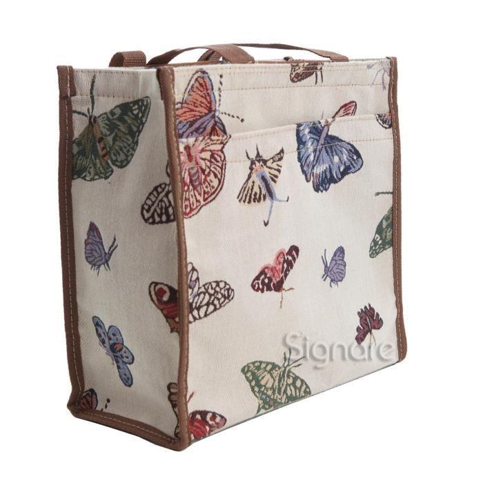 Signare Femmes Tapestry Mode Sac Shopper Sac à bandoulière animal 1UXMIO