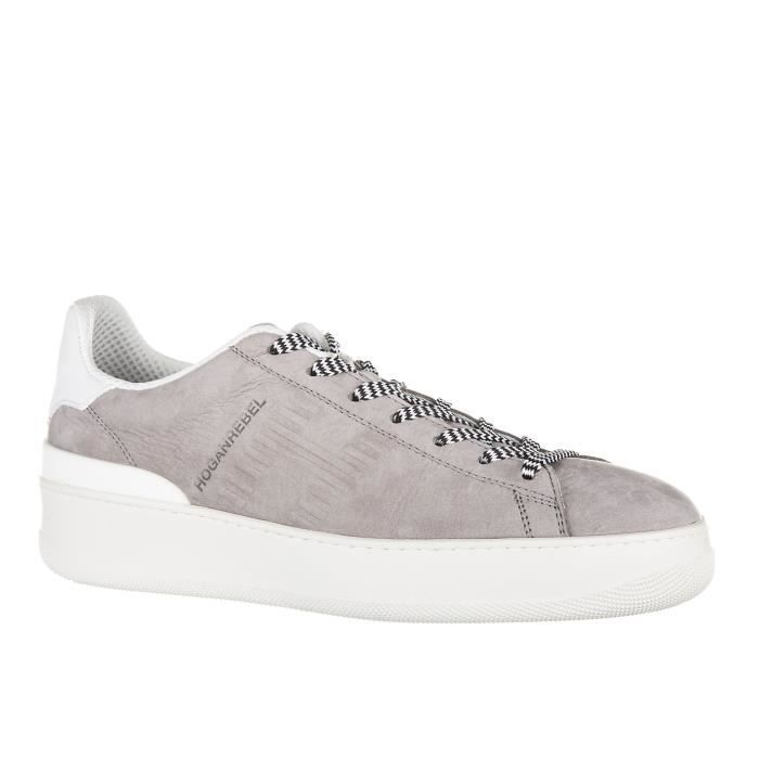 Chaussures baskets sneakers homme en cuir pure 86 allacciato Hogan Rebel
