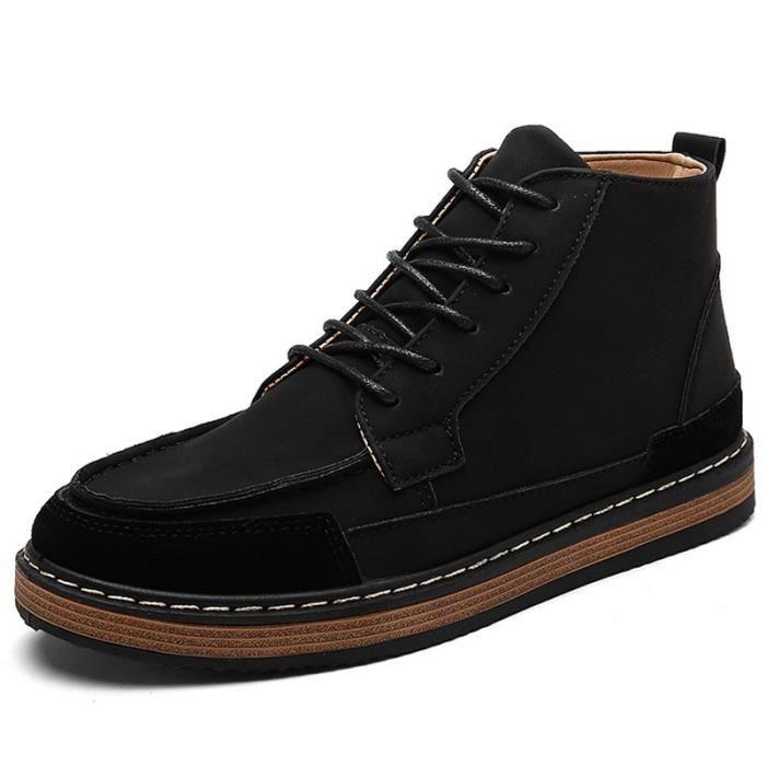Botte Homme Les étudiants desHaut Haut Accru Vintage Skate interne noir taille42