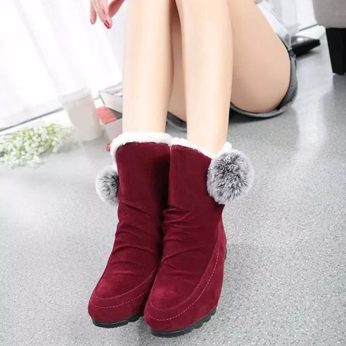 Appartements Chaud Chaussures Casual Bottes Daim Confortable Cheville Femmes Mode BwnTRqxFpp