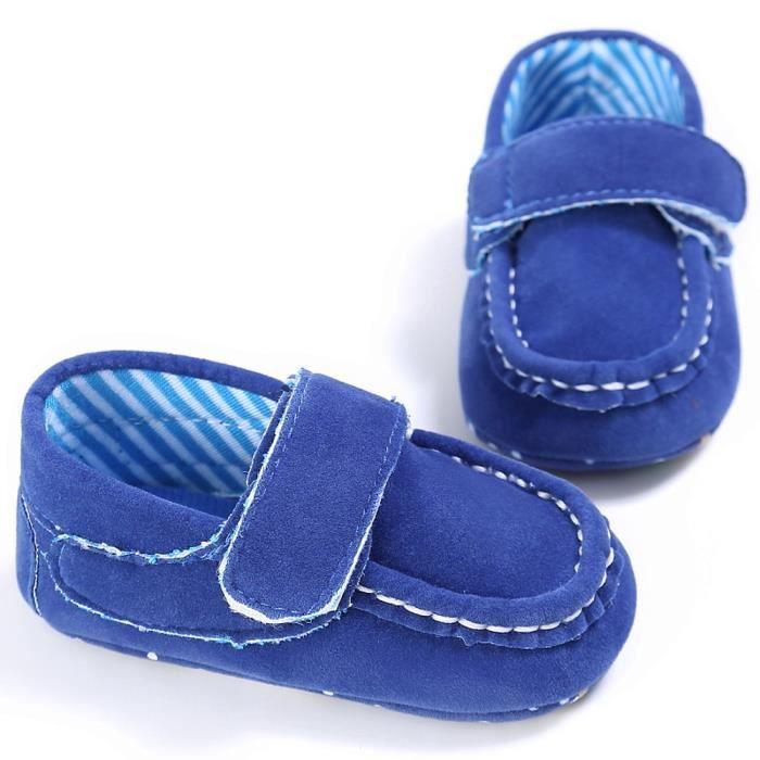 Mocassins On Tout petits Confort bleu Slip Mignon Doux Chaussures Lit Bb Prewalker O86xwHqH