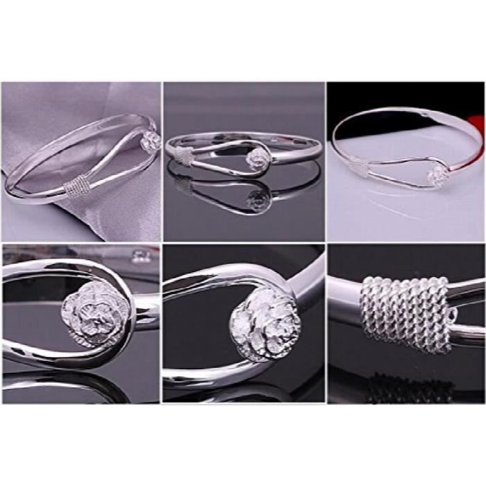 Womens Gorgeous Rhodium Plated Cubic Zirconia Studded Alloy Bracelet For AndY0SH9