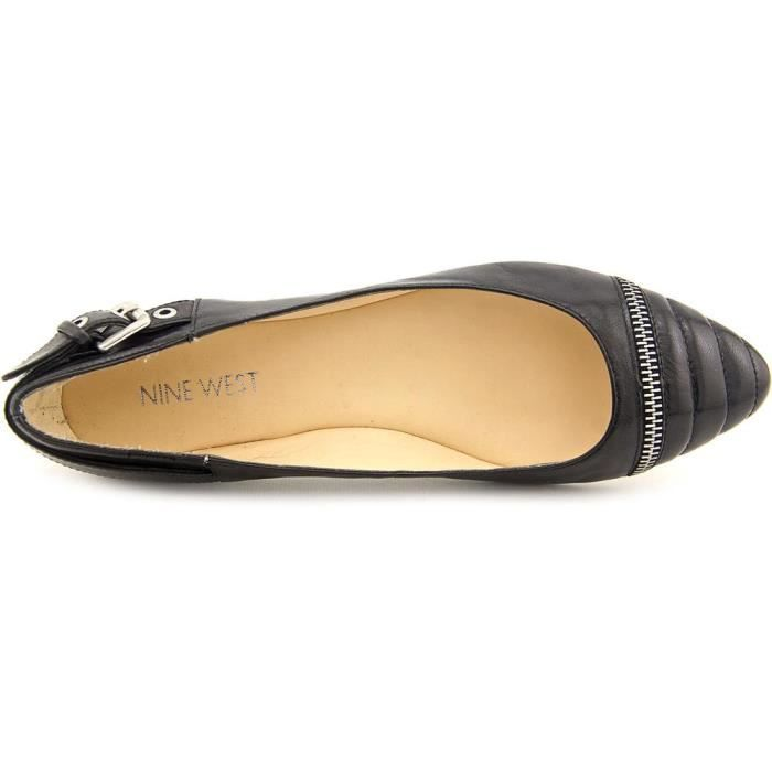 Nine West Savory Cuir Chaussure Plate